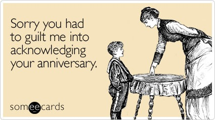 Husband forgot anniversary