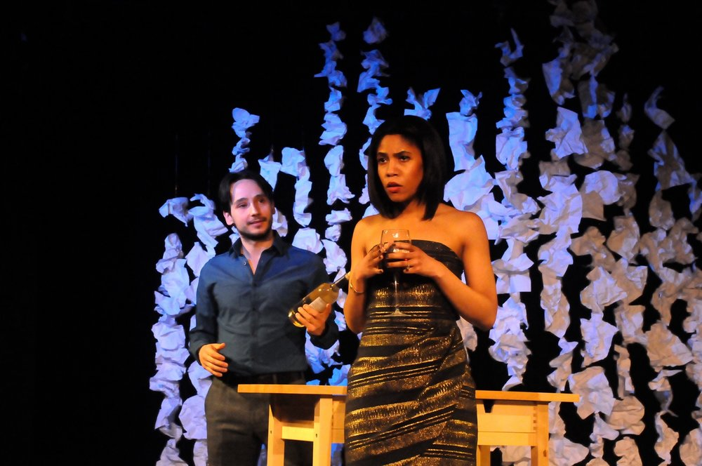 Marchelle as Katherine in the one act  Katherine and Peter  as part of Torrent Theatre's  Mindflood.