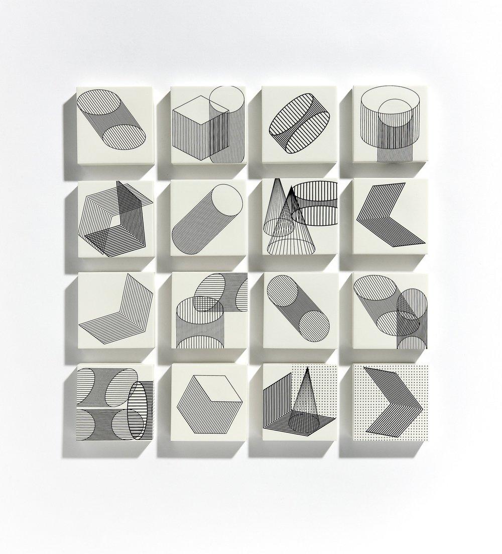 "EML  ""Solid Figure""  3.5 x 3.5 x 0.5 in (9 x 9 x 1.27 cm)"