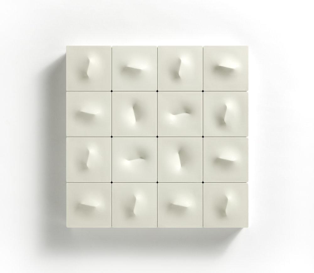 """SHK  """"Tiny Wave""""  12.99 x 12.99 x 2.76 in (33 x 33 x 7 cm)"""
