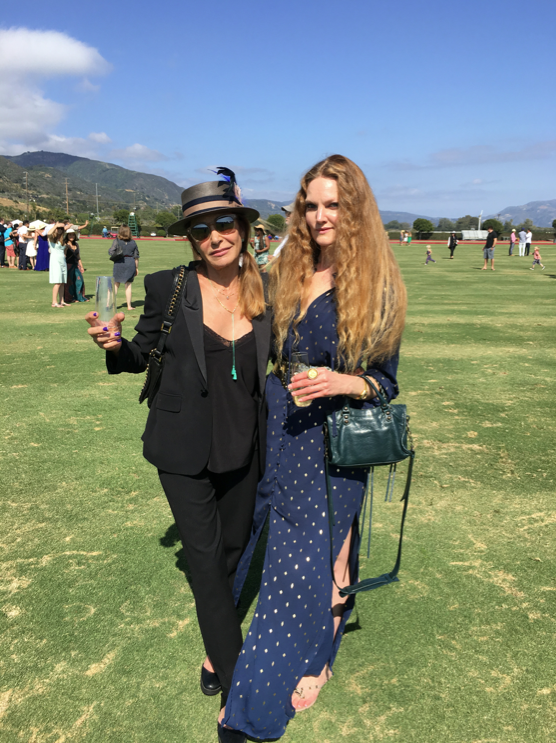 Steffi Burns (right) at Santa Barbara polo with a friend