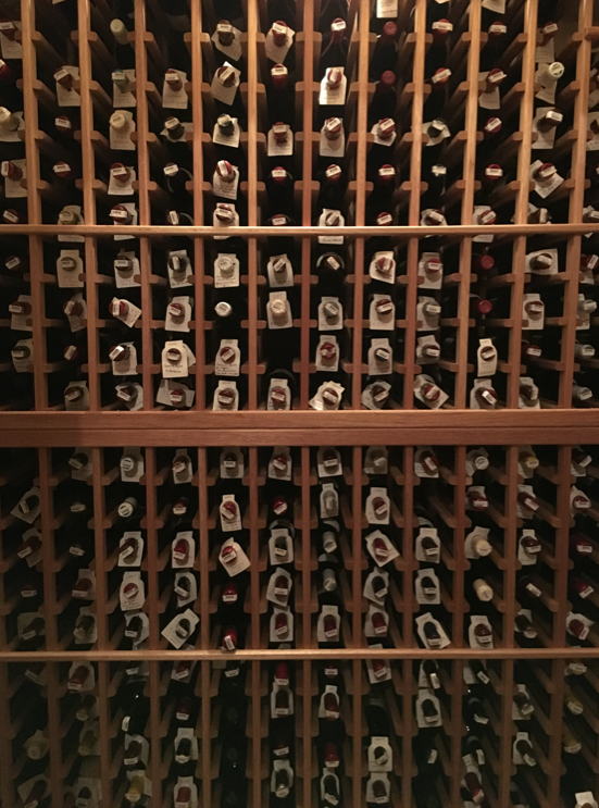 Wine cellar inside the ranch