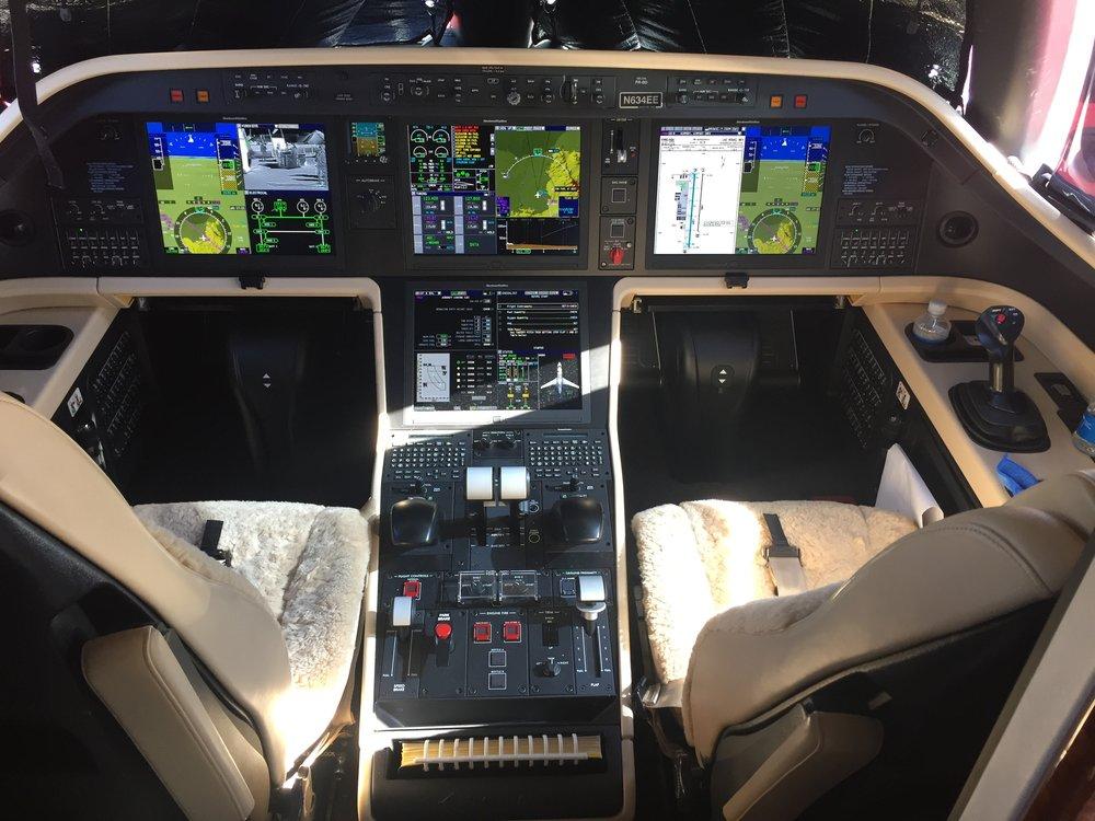 Legacy 450 cockpit. Lots of room.