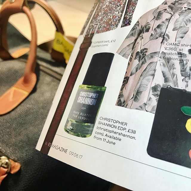 #verduuperfumes @christopher_shannon @verduuperfumes in @eveningstandardmagazine 09.06.17 #trendwatch #esmagazine #perfume #edp #lfwm