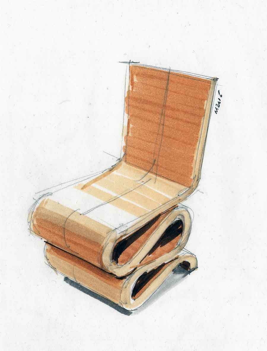 """Wiggle Side Chair"""