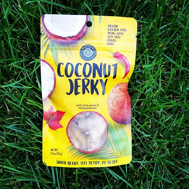 The grass may or may not always be greener on the other side, but our chili maple #cocojerky is always sweet&spicy no matter where it is... Grab yours now via our webshop link in bio or at one of our participating retail locations.  #guiltfree #crueltyfree #paleo #soyfree #nongmo #additivefree #organic #glutenfree #snackfood #futureofsnacking #vegan #rawvegan #raw #coconut #jerky #snacking #vegans #coconutjerky #vegansofig #rawvegansofig #lovecoconut #coconutlove #plantbased #veganlife #vegansnacks #whatveganseat #smile #outdoors #june