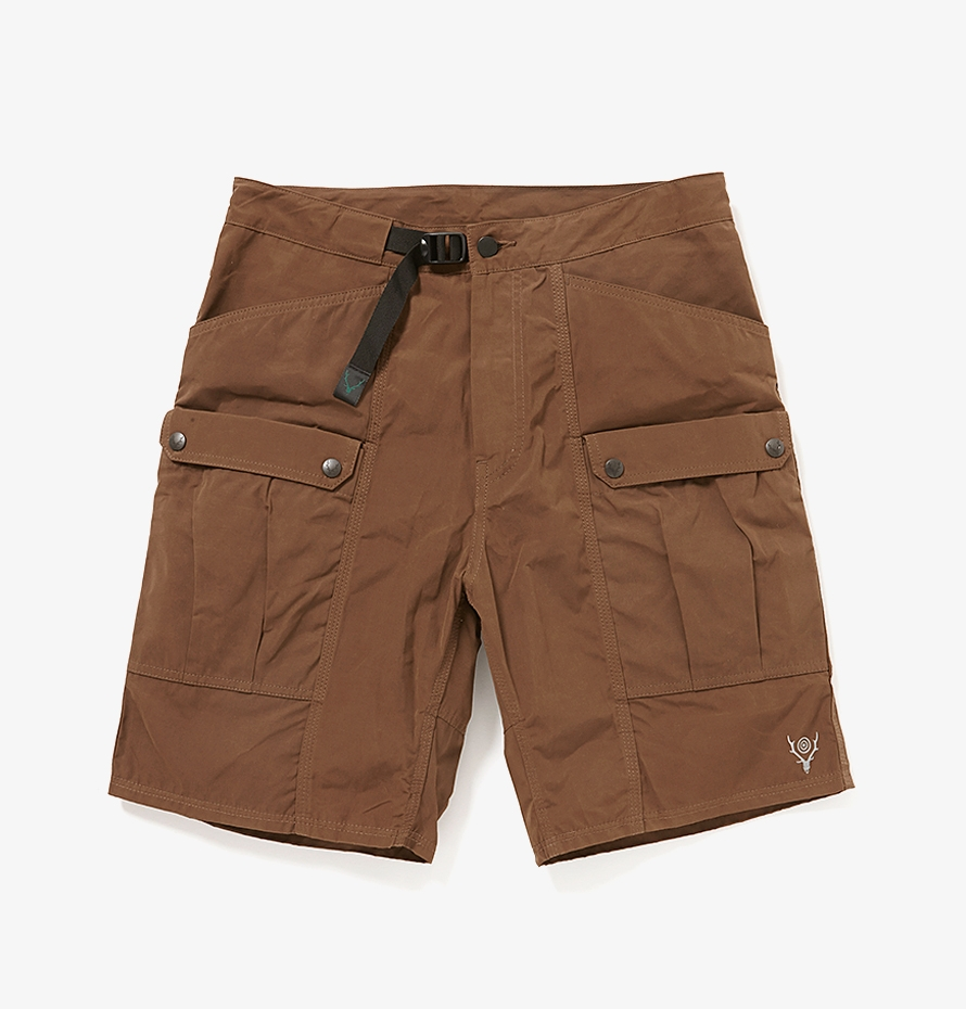 South2 West8 Belted Harbor Short with Made from water-repellent polyester/wax-cotton blend fabric. Available via   COVERCHORD.