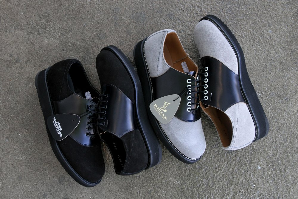 """BEDWIN x REGAL """"BURGEES"""". Available in all black or black/grey."""