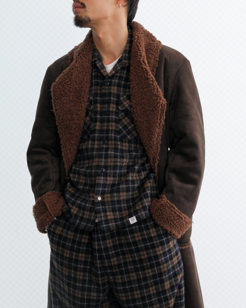 """""""ROGERS"""" and """"GERARD"""" flannel set. Available in blue/beige or blue/green."""