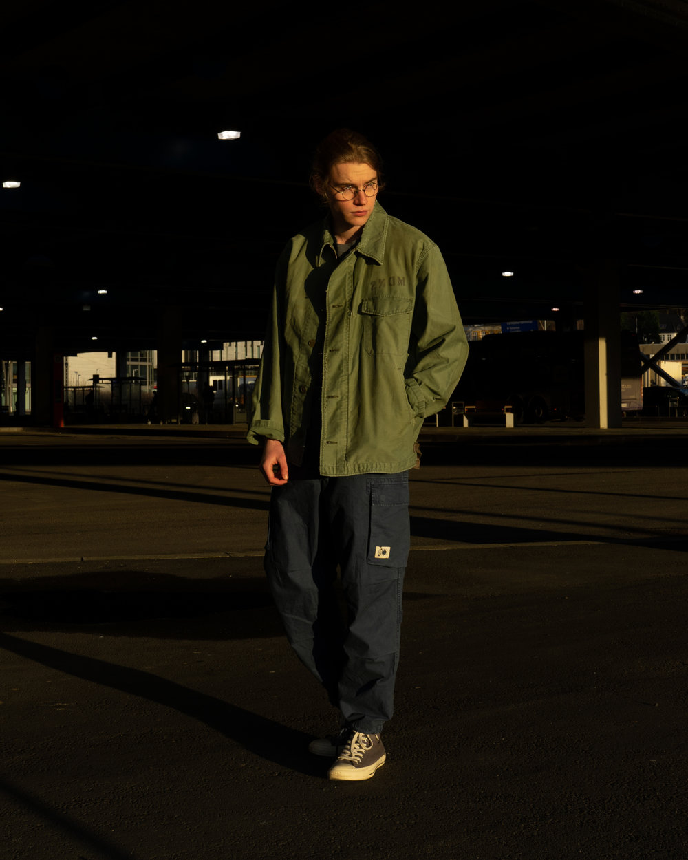 Vintage Processed Deck Jacket, Washed Embroidery Tee, Washed Deck Pants.