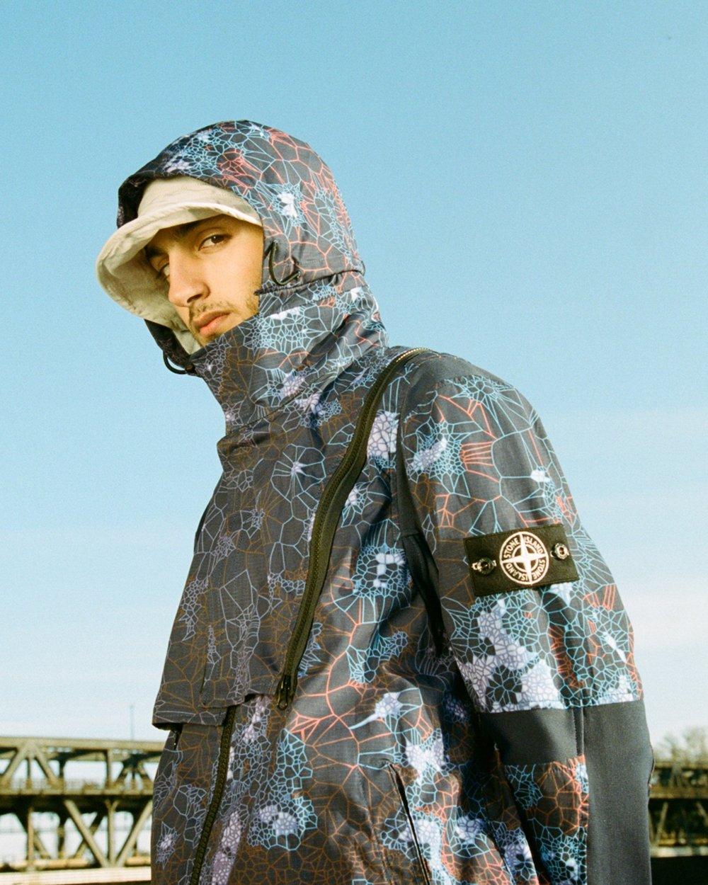 Stone Island - Printed Heat Reactive Camo Zip Hooded Jacket