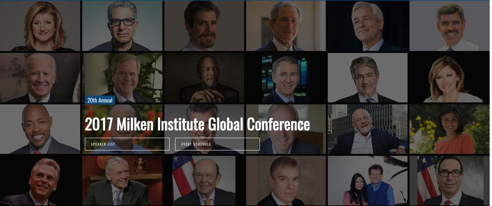 Milken Institute Conference Awards 2017