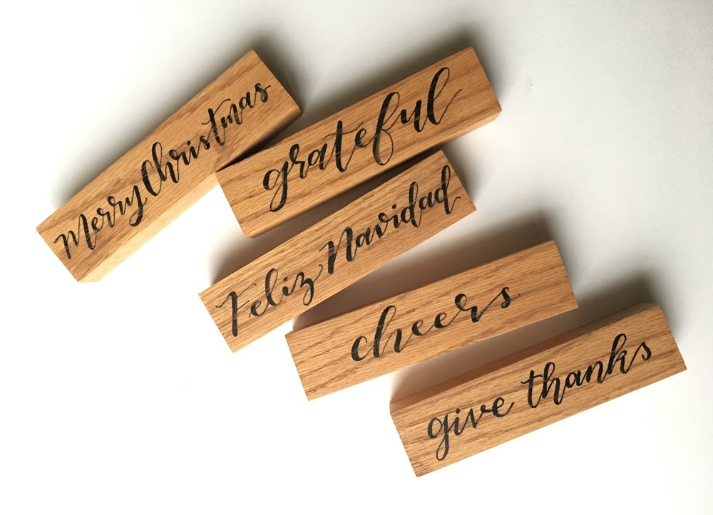 mini calligraphy wood bars