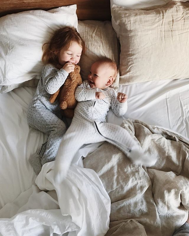 7:30am's with my two little buddies... after weeks of sleeping in different places, it's certainly a sweet delight to be back into our own beds and waking up to my favourite morning ritual.