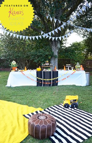 Under Construction 2nd Birthday Party Hard Hats And Work Boots On For This Rustic