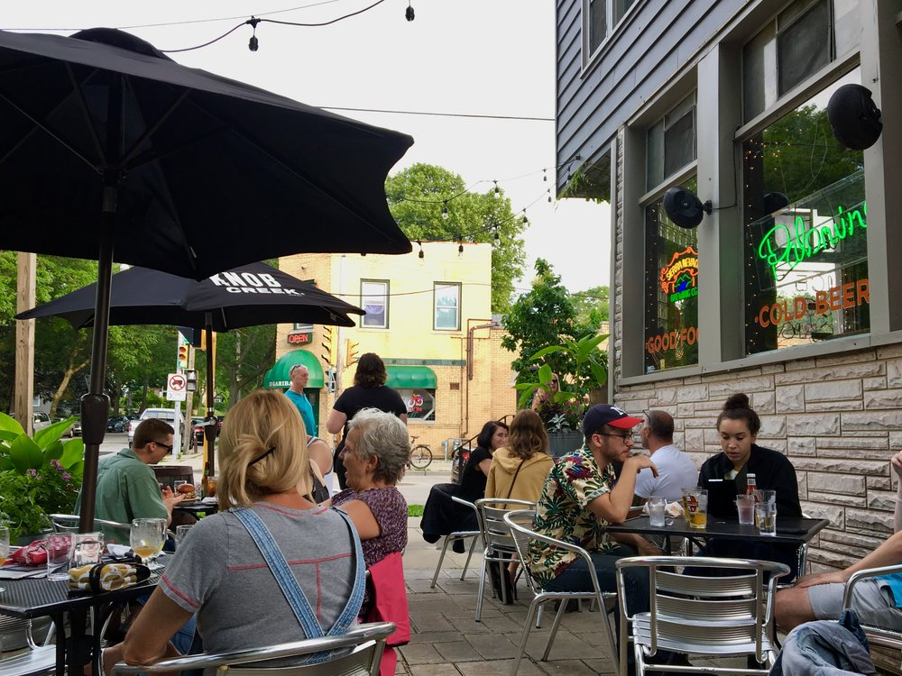 The Patio At Palomino Is Super Inviting And Is Decorated With Little  Gardens That Separate You From The Street. Thereu0027s Not Much Car Traffic To  Begin With, ...