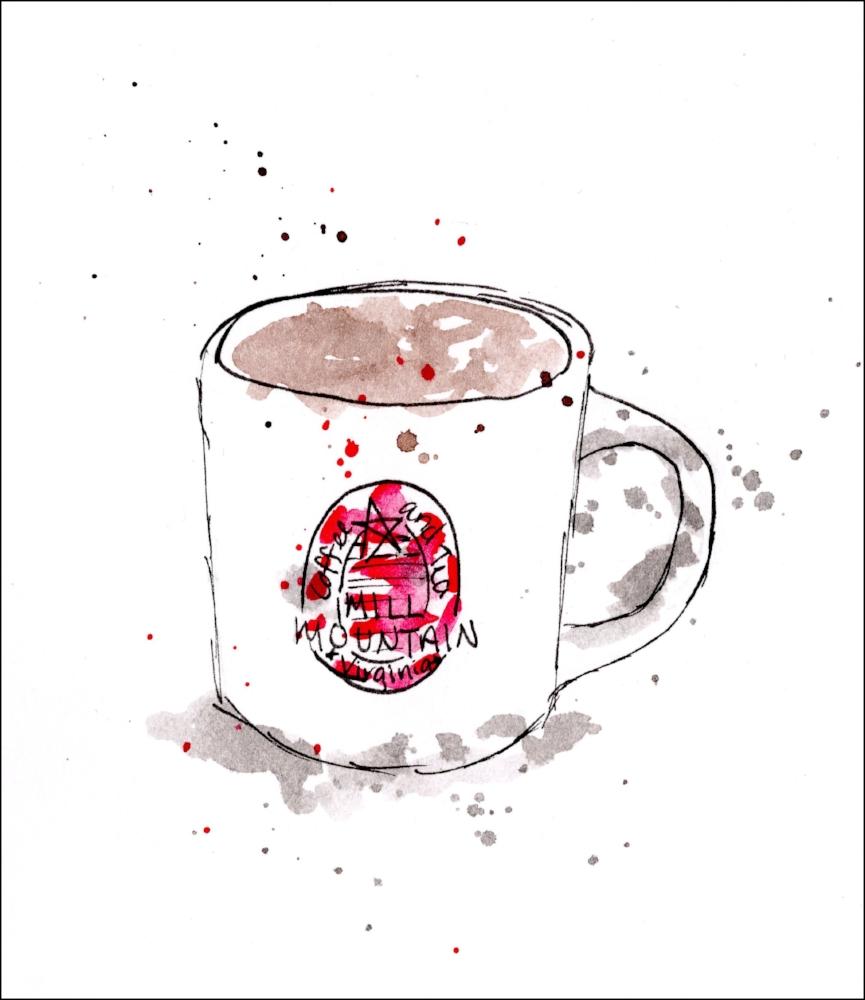 Coffee mug from Mill Mountain Coffee and Tea.