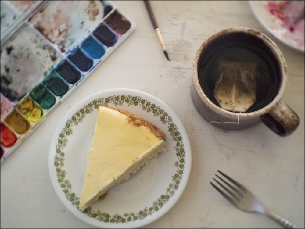 Homemade cheesecake and chai from Mother's Day weekend.