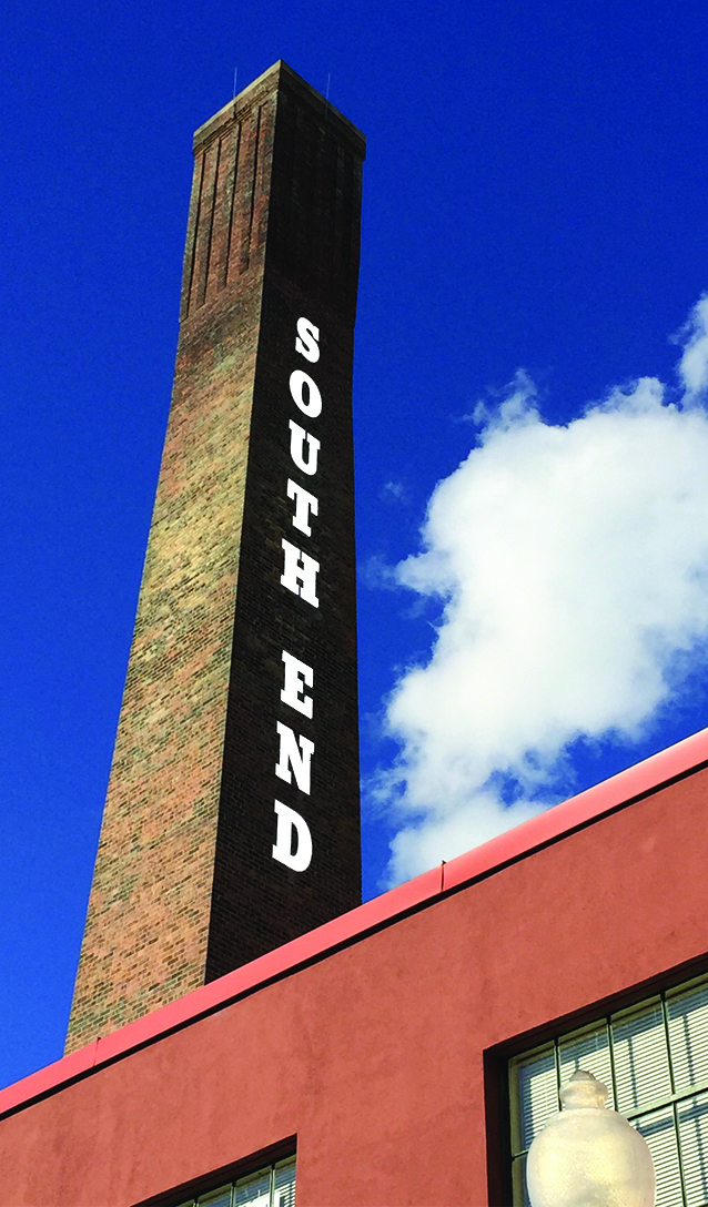 Atherton Lofts is home to this gorgeous smoke stack telling everyone that they've arrived.