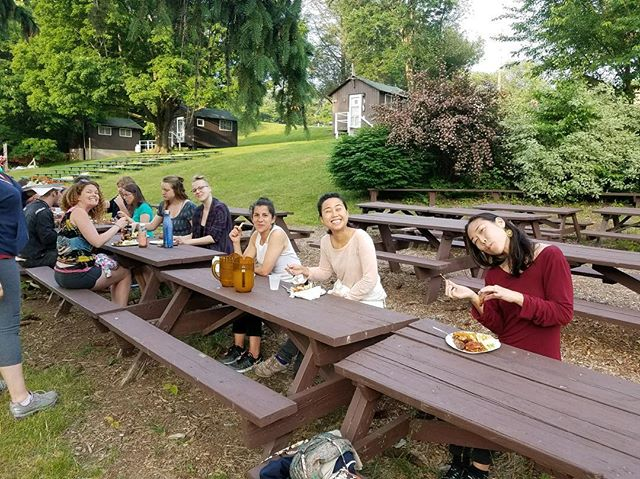 ARRIVAL // Some of our first campers and volunteers arrived today! Happy dinner. We are so excited for everyone to arrive tomorrow!!! • www.connectioncamp.com . . . . . #excited #summervibes #consciousness #campout #connectioncamp #community #connection #play #sleepawaycamp #campforadults #summeronmymind #nophones #mothernature #summervacation #getaway #nature #summercamp #nyc #workshops #games #openmic #bbq #bonfire #nowifi #flowstate #optoutside #convergence #adventure #explore #tunein