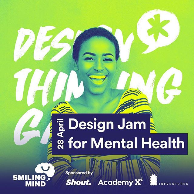 FRIENDLY REMINDER: 3 more days to #DesignJam for Mental Health! We hope you are as excited as we are. We will now be at @ybfventures YBF Ventures (nearest tram stop: William St/Bourke St)!! See you on Saturday 🚀  #DesignThinkingGames #DTG