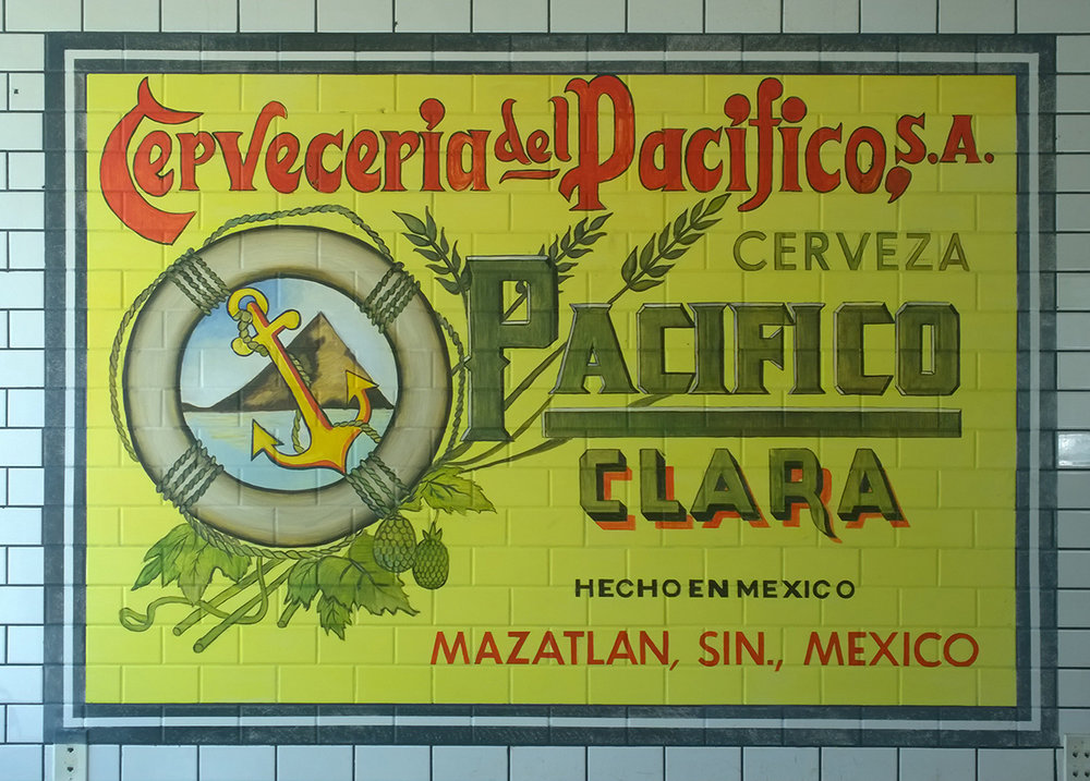 Pacifico Advertisement, Oil on tiles, 48 x 72 inch.(s).jpg