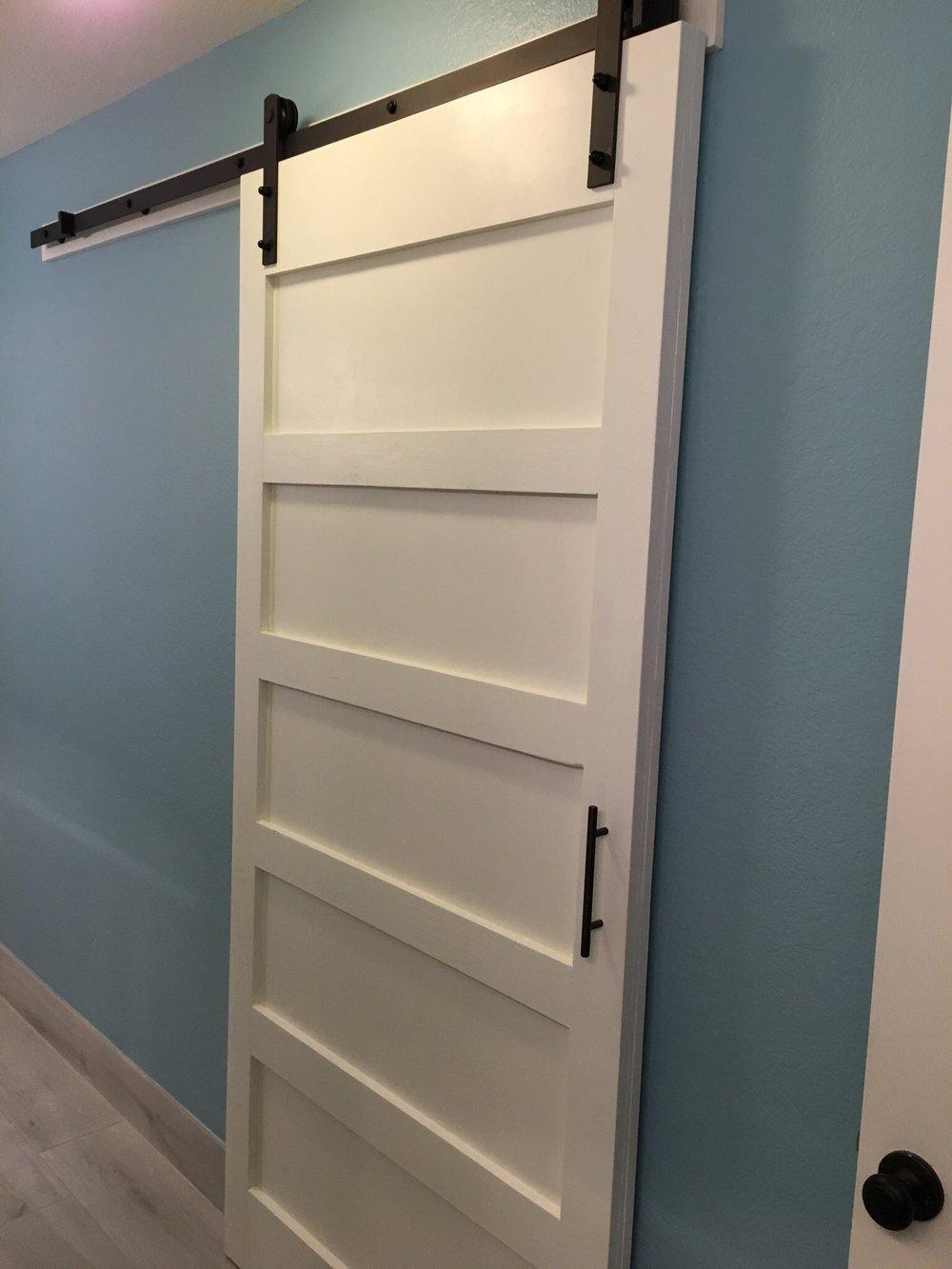 5-Panel Barn Door (Single Slab Back)