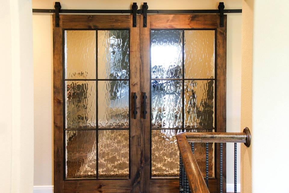 Glass Window Barn Door