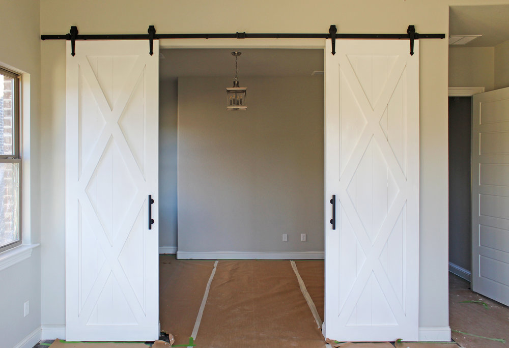 Double X With Border Barn Doors