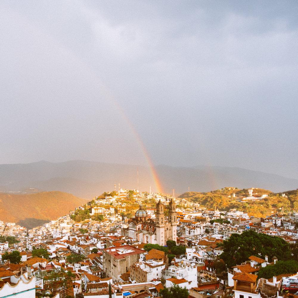 View of the  Templo de Santa Prisca
