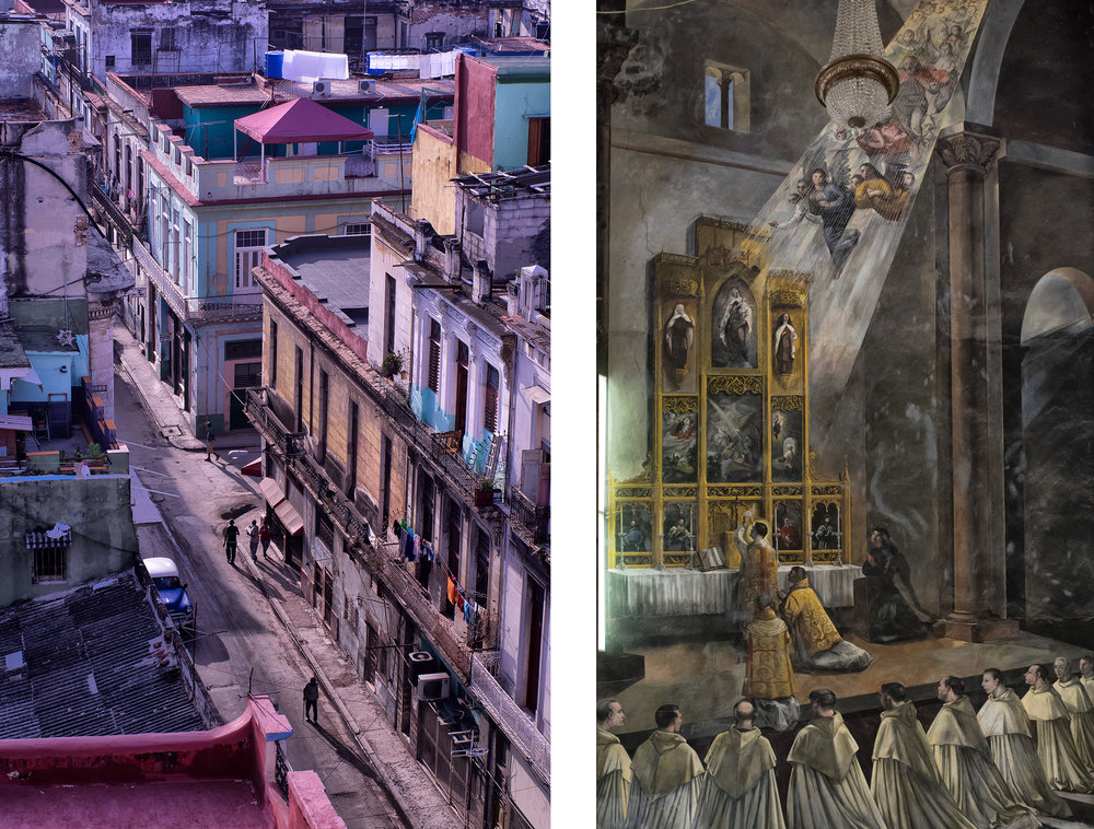 Left: Morning Light, 314 Aguila Street  Right: Cathedral Wall, Artist Unknown