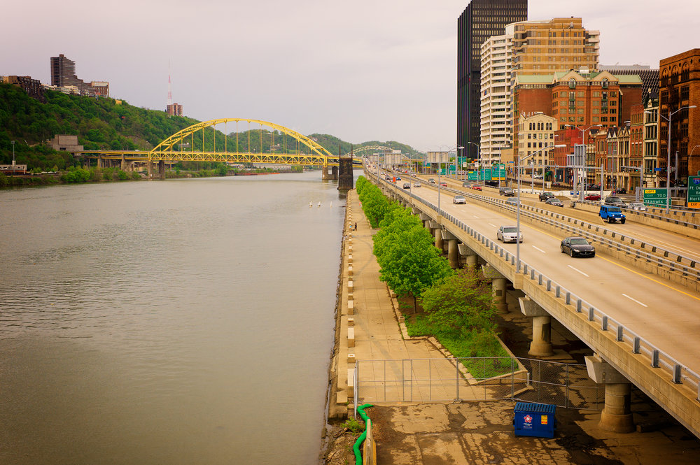 City and the Monongahela River