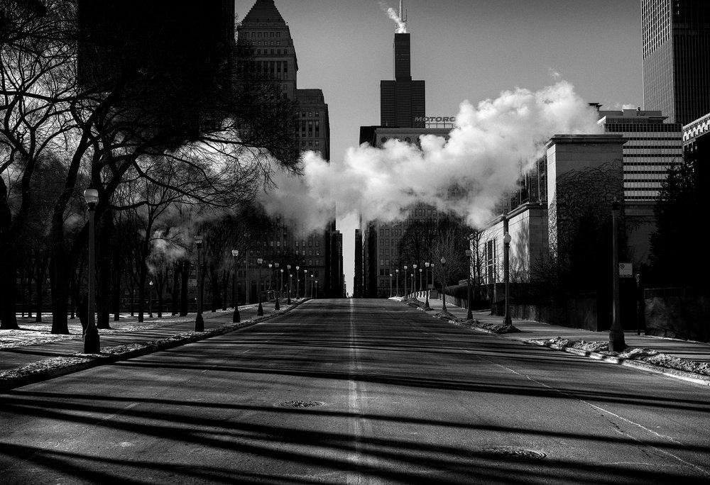 Crossing East Jackson Boulevard | © Preston Lewis Thomas