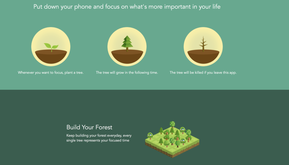 8. Forest - Stay focused, be present. Offering both an app and desktop extension, this beautiful little concept allows you to stay engaged with your task, but in a pleasant way. When you want to focus on a project, the app allows you to plant a virtual tree, which will grow whilst your complete the task. If you get distracted and visit a blacklist site, the tree dies. It's a simple concept but very effective. The app recently added a friend system, that only grows trees when everyone's staying focused, creating an extra layer of peer pressure.