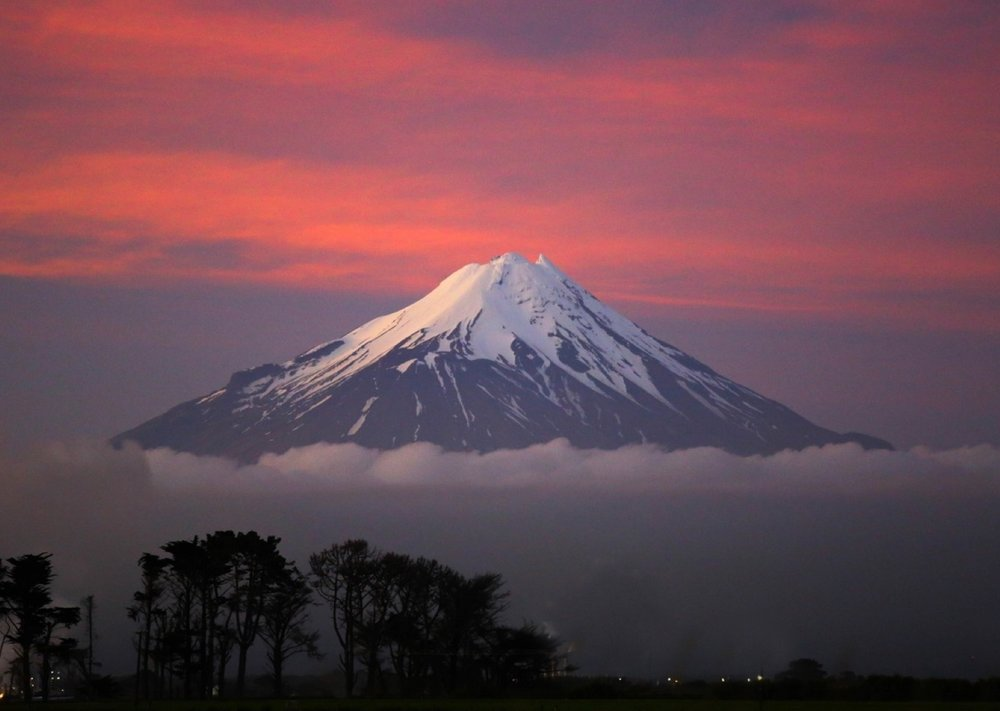 Our creative Director's own personal treasure; a view of Mt Taranaki, New Zealand.