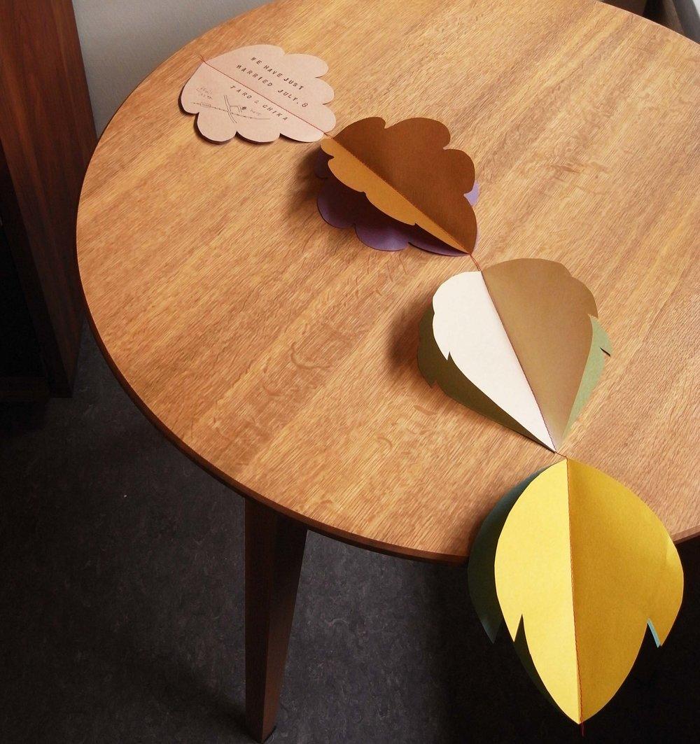 日本の紋切り型のような紙を折り畳んで切り抜き広げたデコレーションもデンマークのペーパークラフトの伝統的な手法