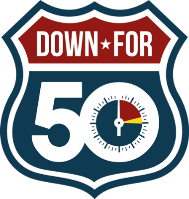 Down For 50 Logo