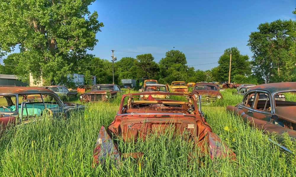 This was our destiny--until it wasn't. (Scrap yard in rural Oklahoma.)