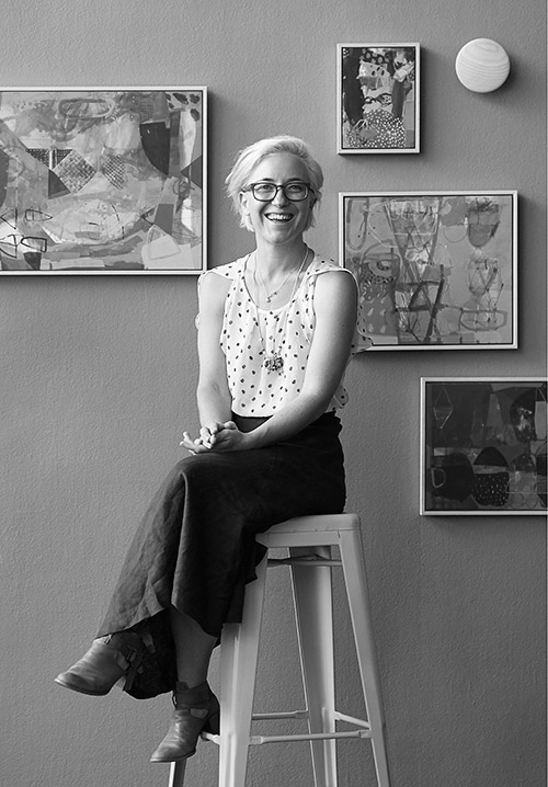 Meet Emily Besser - Emily Besser is a painter who lives and works in Sydney. She completed a Bachelor of Visual Arts with First Class Honours in Painting at Sydney College of the Arts in 2001. After a brief interlude working as a lawyer, she now divides her time between raising her two children and a full-time studio practice, exhibiting regularly in NSW and Victoria. After having kids, Emily also began making jewellery, which she is passionate about.