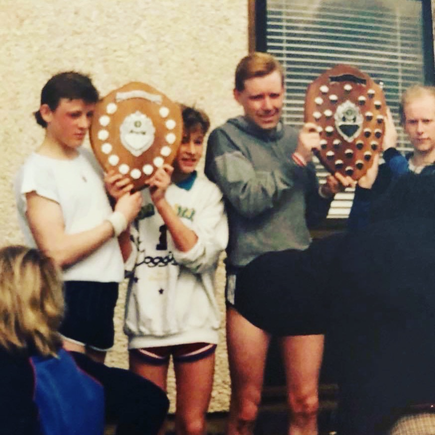 That's me, the Shortarse - 2nd Left. Winning the annual 10 miler at School.