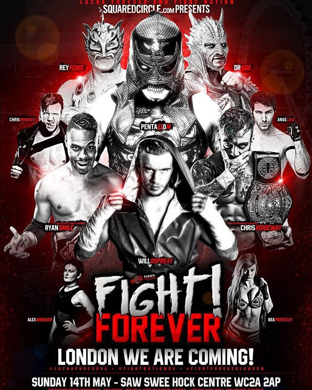 FIGHT! FOREVER LONDON - Official Artwork  Come and join us for our huge show featuring some special guests 💪🏽 All packages, meet and greet and event tickets are available now at luchaforever.com  Re-Gram Re-Gram  #FightForeverLondon