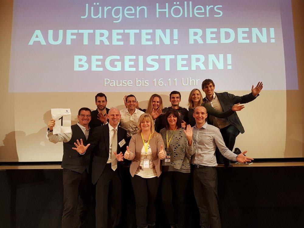 Als Trainer bei Jürgen Höller's Rhetorik Seminar -