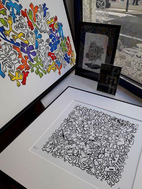 À vendre: des sérigraphies, des reproductions… Prix sur demande en boutique ou par mail pmhuet@gmail.com.  Bientôt un article ici pour en parler!