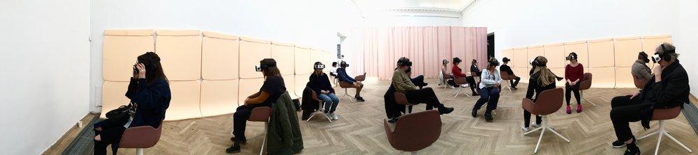 Biosphere VR at Charlottenborg Museum of Art, at Copenhagen Dox Filmfestival.