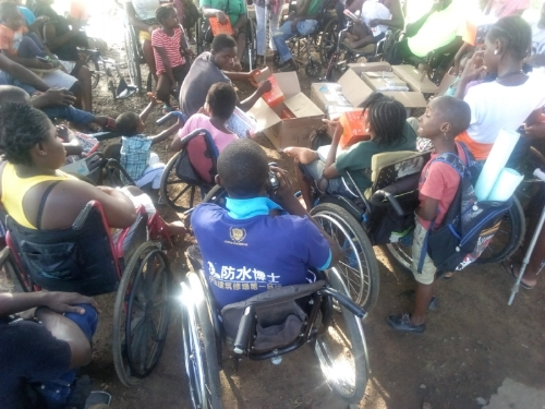 Solar lights donated by LightBulbs.com arrived at Mission of Hope for Disabled in West Africa, Liberia.