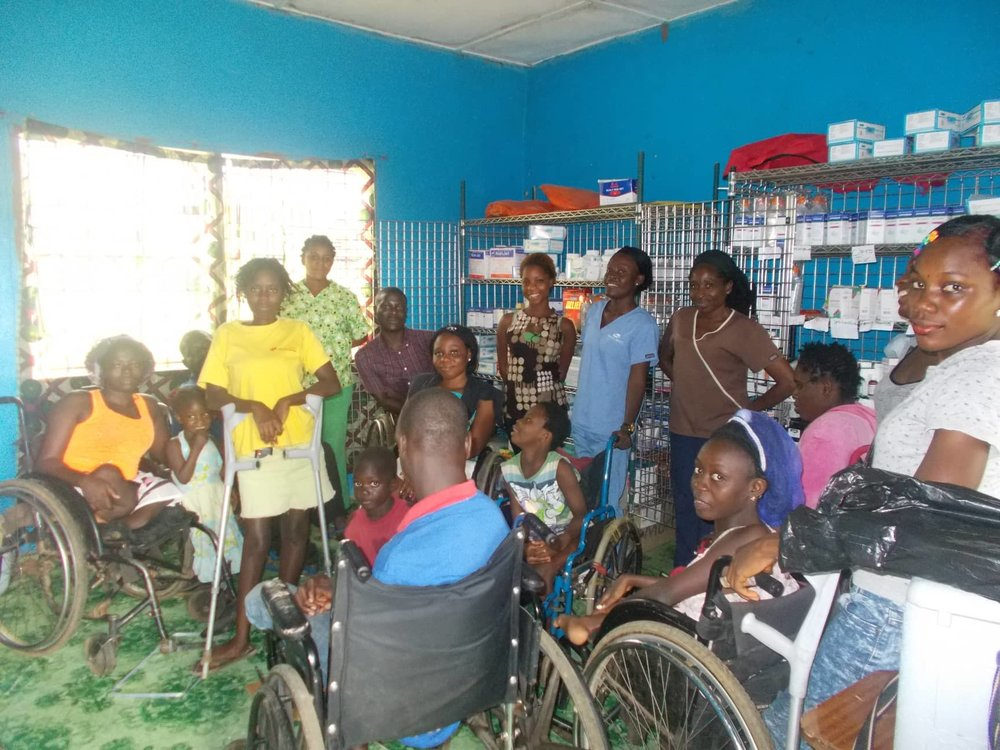Medical supplies for Mission of Hope for the Disabled.