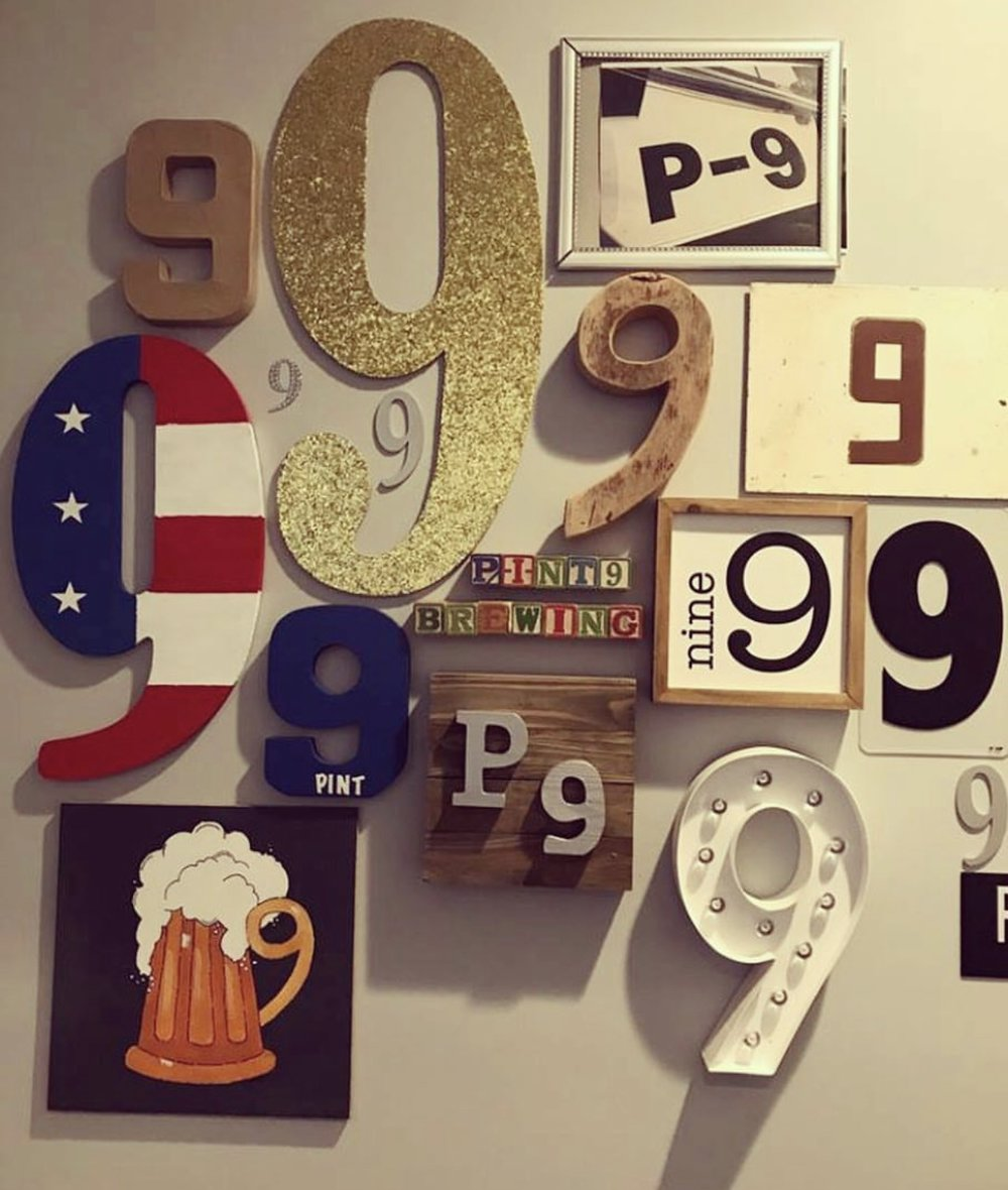 9 Wall - Bring a 9 to hang on our wall and receive $1.00 off your first pint…any day….anytime!