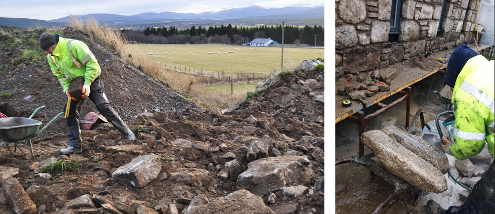 Torispardon: Reuse of granite and whinstone