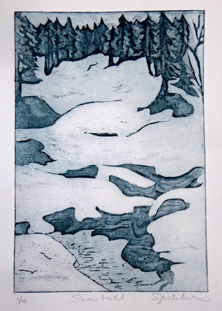 Snow Melt - 46 x 36cm (framed size)