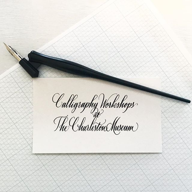 Only one date for calligraphy workshops this spring! Join us on March 10th at the Charleston Museum for calligraphy for beginners starting at 10am! An intermediate class will be offered at 1pm (must have already taken the beginner class first for this one). Link in profile.